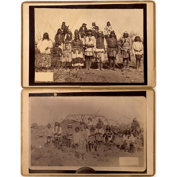 Fly Photographs of Geronimo's Surrender in Arizona incl. Kidnapped White Child  [135766]