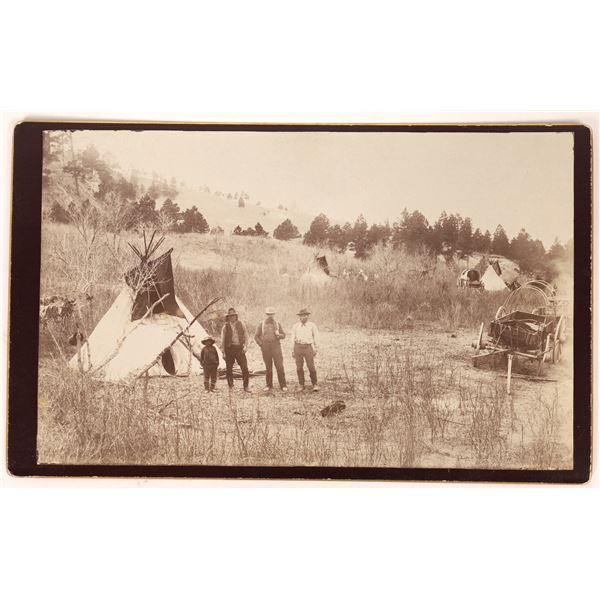Mounted Photograph of Native American Camp  [134180]