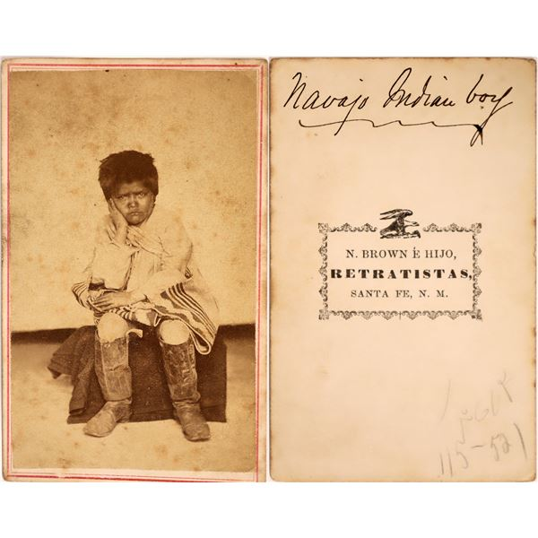 Rare CDV of Navajo Boy  [135299]