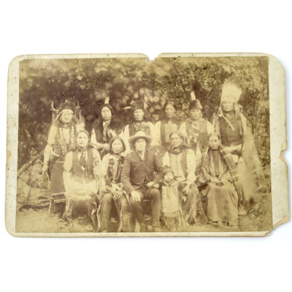 Indian Agency Photograph 1880's, with Firearms Pictured  [137737]