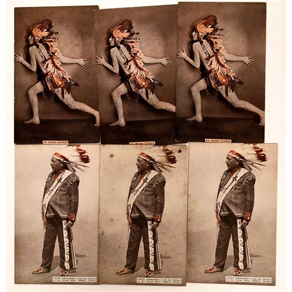 Rare Photo Cards of Native Americans  [137595]
