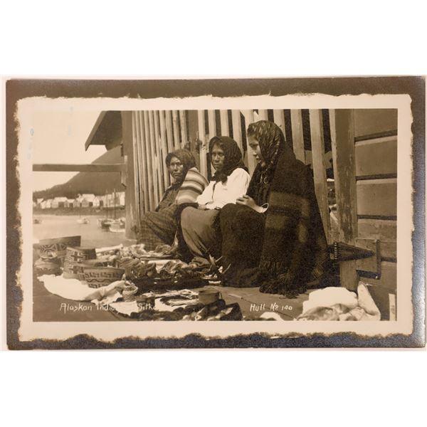 Alaskan Basketmakers Real Photo Postcard  [135758]