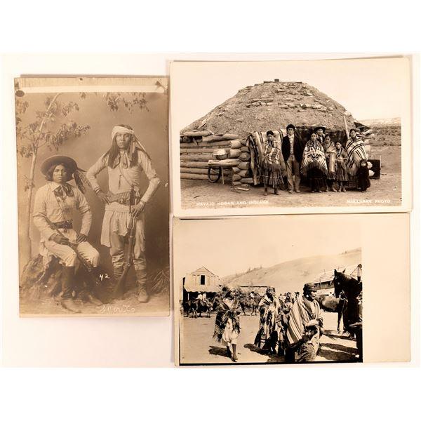 Native American Real Photo Postcard Trio  [135739]