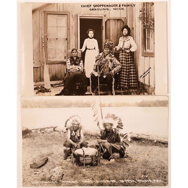 Michigan Native American Real Photo Postcards  [135745]