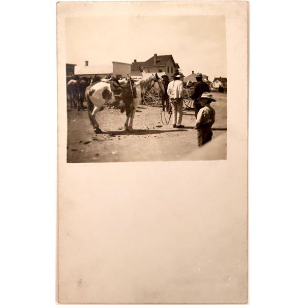 Indian Prisoner Real Photo Postcard  [135749]
