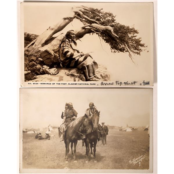 Kalispell, MT Native American Real Photo Postcards  [135738]