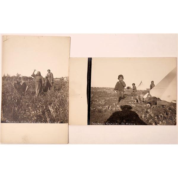 Blackfeet Native American Real Photo Postcards  [135748]