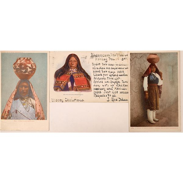 Pueblo Indians Postcard Group  [135752]