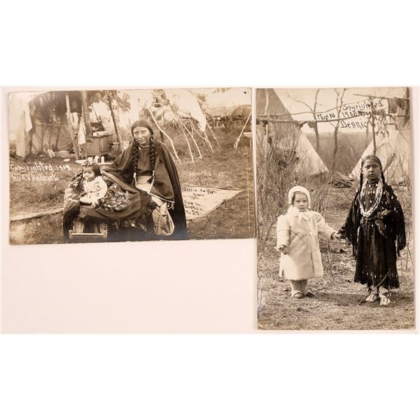 Native American Real Photo Postcards by Dederick  [135744]