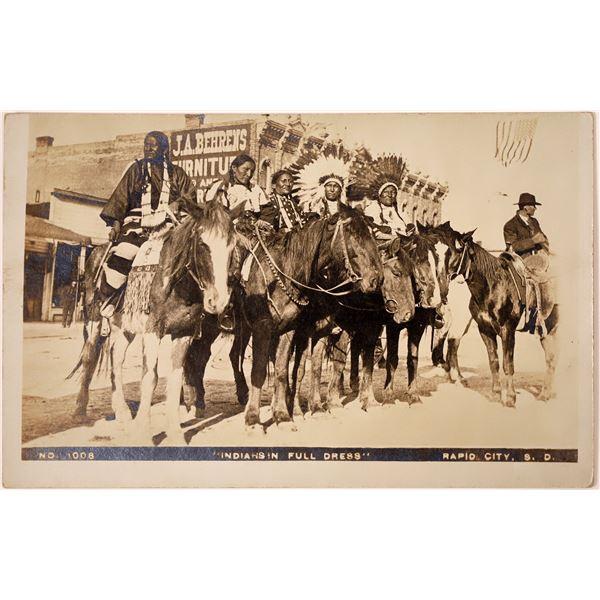 South Dakota Native American Chiefs Real Photo Postcard  [135743]