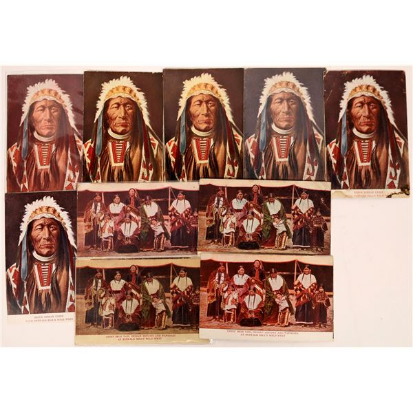 Buffalo Bill's Wild West Show Native American Postcards  [137596]
