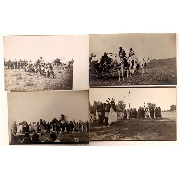 Native American Ceremony Real Photo Postcard Group  [135741]