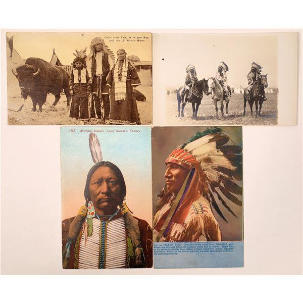 Native American Chiefs Postcard Group  [135753]