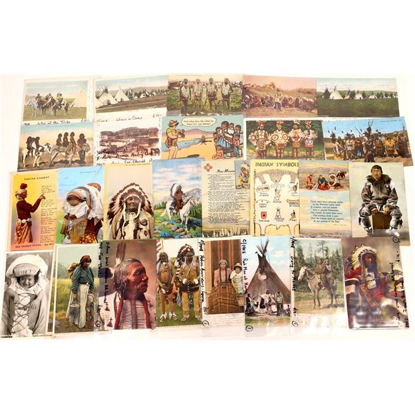 American Indian Themed Postcards (25)  [136058]