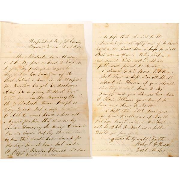 Civil War Letter & Photograph  [132576]