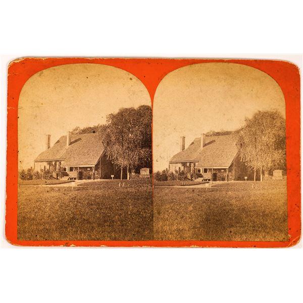 Stereoview of George Washington Military HQ in Newburgh, NY [134209]