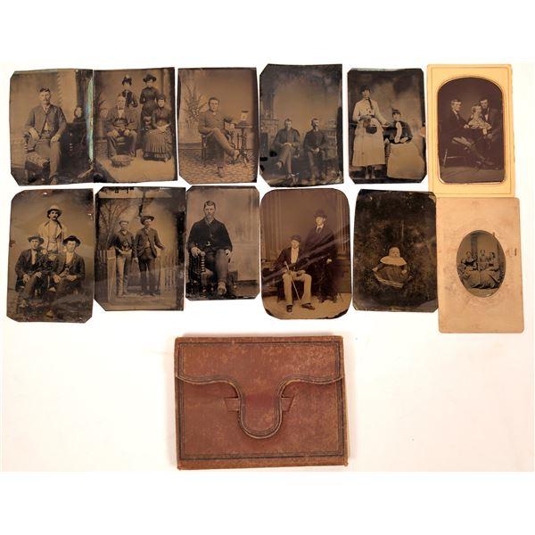 Men's Portraits, Civil War Era Tin Types Album  [135623]