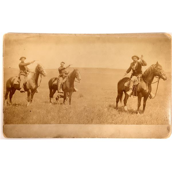 US Cavalry Staged Hold-Up Mounted Photograph  [135763]