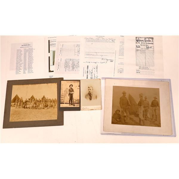 """Photograph Archive of """"Rough Rider"""" Soldier Charles P. Cochran  [134213]"""
