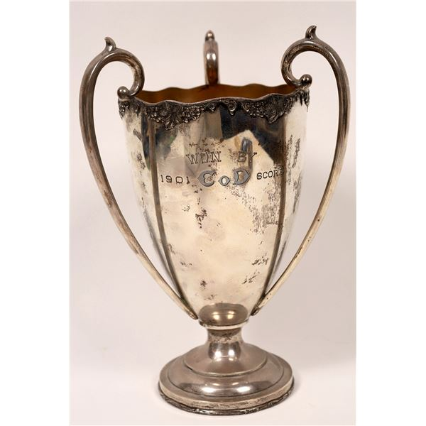 Sterling Silver Marksman Trophy Cup, CA Regiment  5th Calvary Company D 1901  [137430]