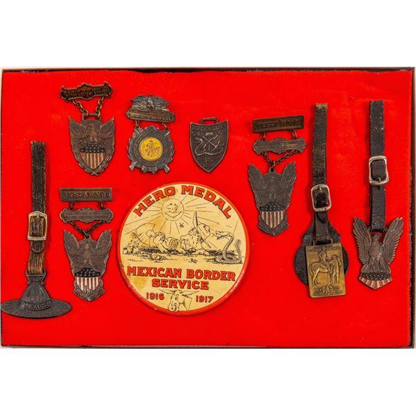 U.S. Army Mexican Border Service Medals 1916-1917   [135998]