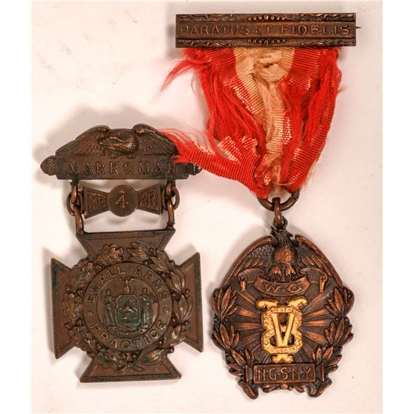 Small Arms Practice Medal Tiffany and Co. and Paratis Et Fidelis Medal  [137529]