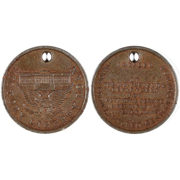 World War I Liberty Loan Medal Made from German Cannons  [134163]