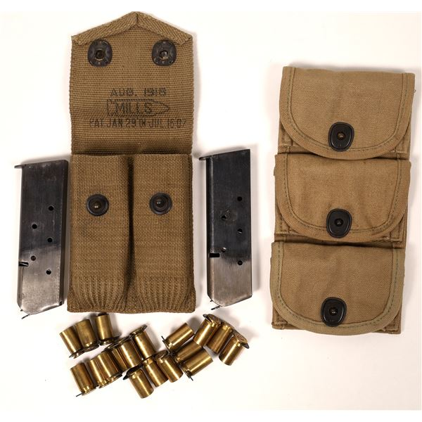 WW1 45 Caliber Mills Canvas Pouch with Magazines  [135991]