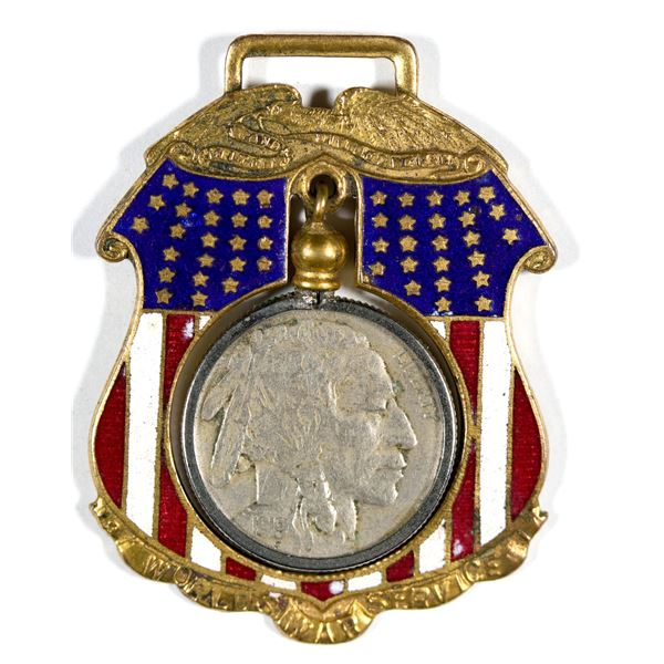 WW1 Service Medal with 1919 coin  [137531]