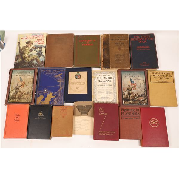WWI Library (about 23 Vols)  [136516]