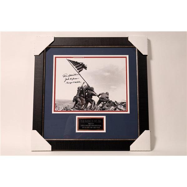 Signed Framed Photo of Flag Raising on Iwo Jima  [135161]