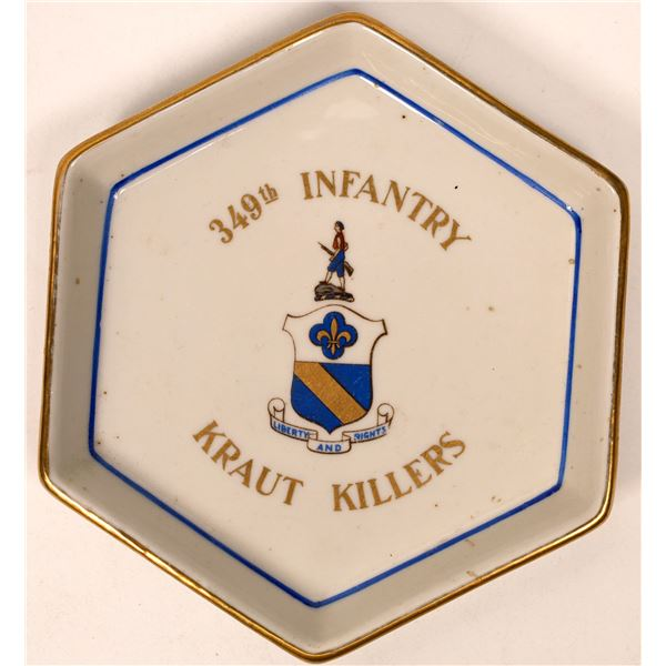 "World War II Trinket Dish: 349th Infantry, the ""Kraut Killers""  [134189]"