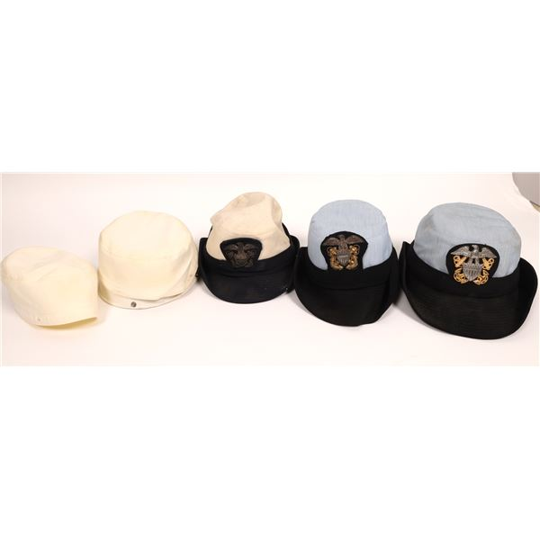 US Navy Hat Trio with Hat Badges  [136703]