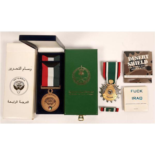 Operation Desert Shield Campaign Medals and Memorabilia   [135996]