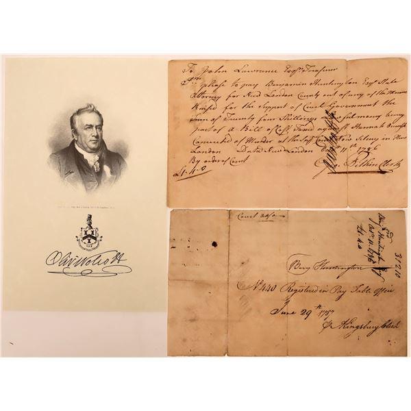 Letter signed by Oliver Wolcott, Declaration Signer  [135625]