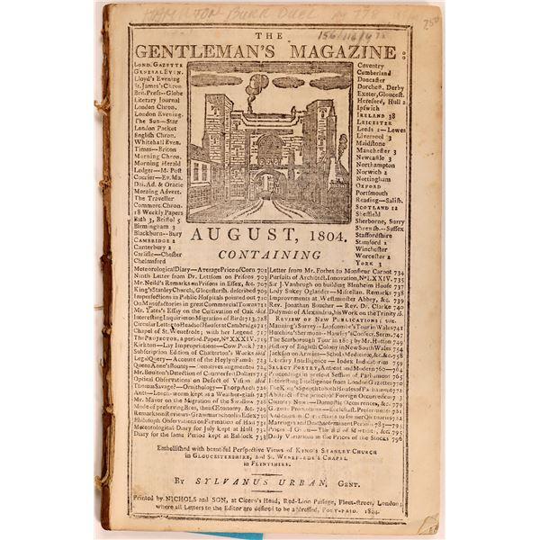 1804 English Magazine Reporting Hamilton/Burr Duel  [135732]