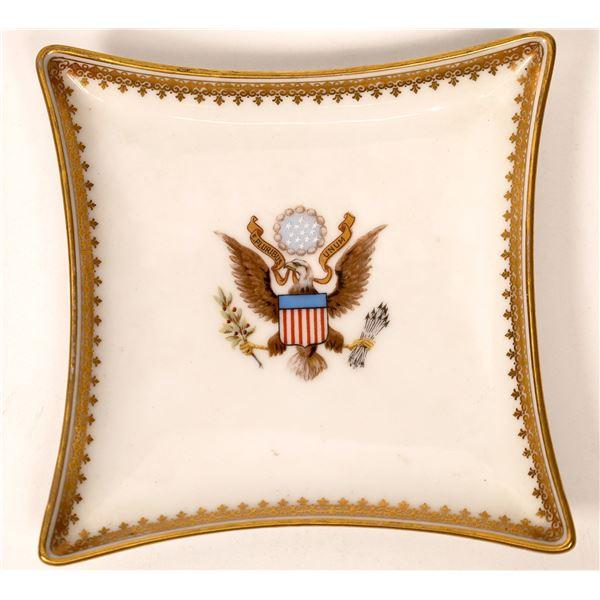 Teddy Roosevelt Patterned Presidential Ashtray  [134197]