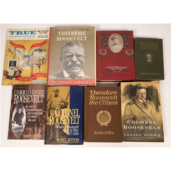 Theodore Roosevelt Biography Library, with Autographs (8 Volumes)   [136724]