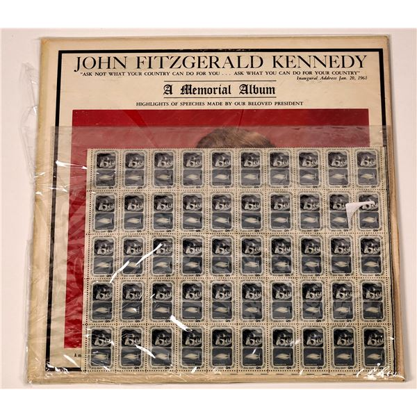 Kennedy Album & Stamp Sheet - 2 Items  [135629]