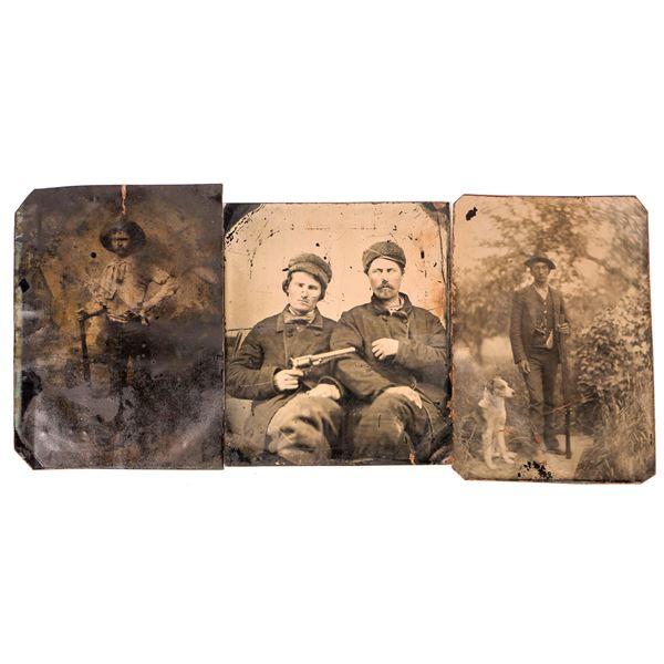 Rare Tintypes of Men with Guns  [134187]