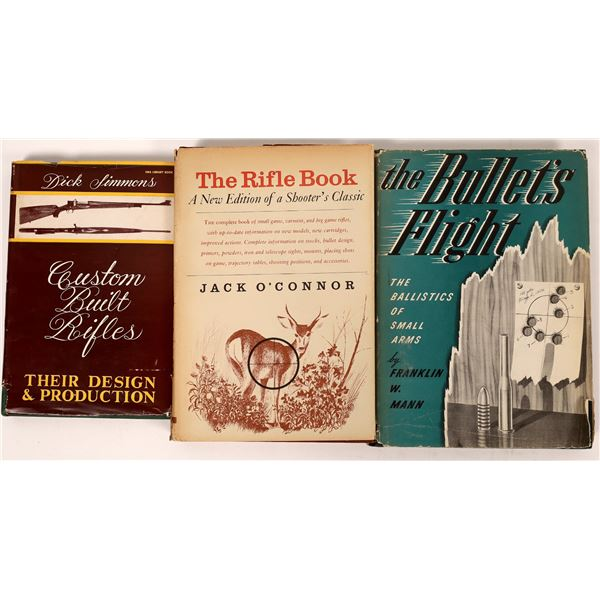 The Rifle Book by Jack O'Connor 1964 Plus Other Sporting Rifle Books  [136149]