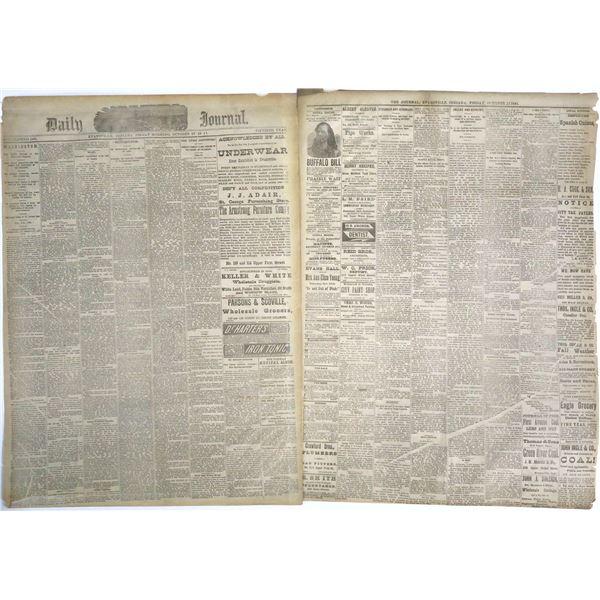 Buffalo Bill Advertised in Indiana Newspaper  [136021]