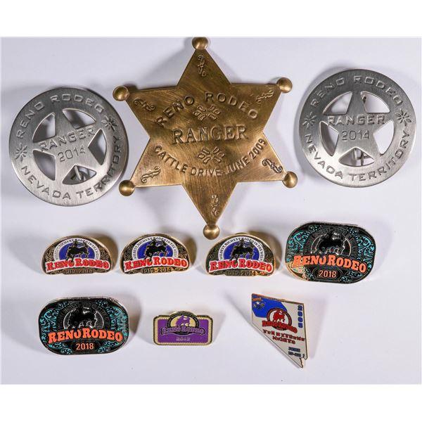 Reno Rodeo Badges & Pinbacks (10)  [135780]