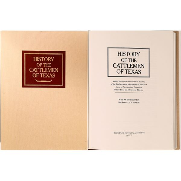 History of the Cattlemen on Texas (Rare Book)  [135879]