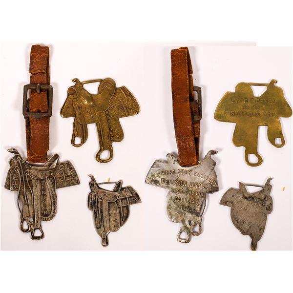 Three Saddle-Themed Cowboy Fobs  [134190]