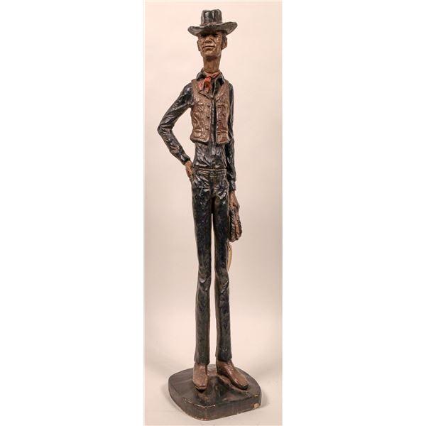 Slim Cowboy Statue  [135043]