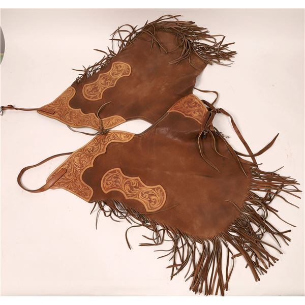 Western Leather Chaps (3 Pairs)  [133763]