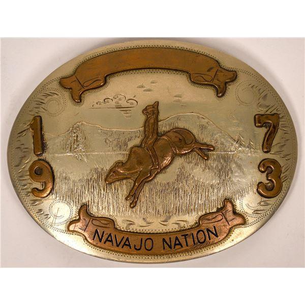 Navajo Nation Silver Belt Buckle  [137536]