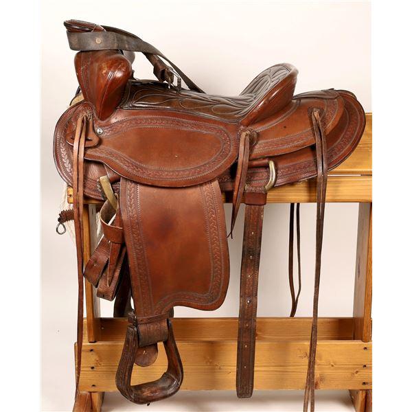 Heydt & Steribe Portland Oregon Ornate Mans Saddle  [136628]