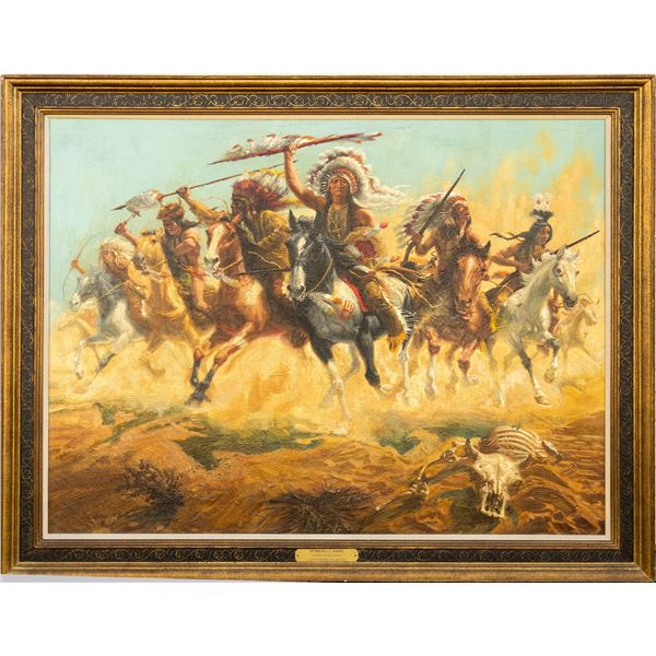 """""""Sitting Bull's Charge"""" by William Douglas Rosa   [136951]"""